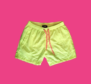 Rebel Groove Shorts Neon Yellow Swim Shorts