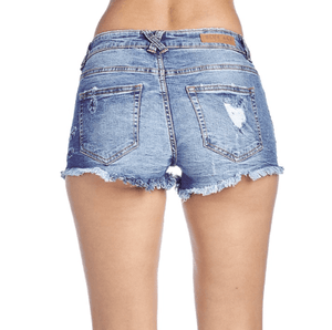 Rebel Groove Shorts WOMENS DESTROYED DENIM SHORTS