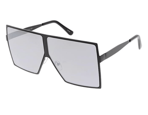 Rebel Groove Unisex Metal Oversized Square Flat Frame w/ Color Mirror Lens