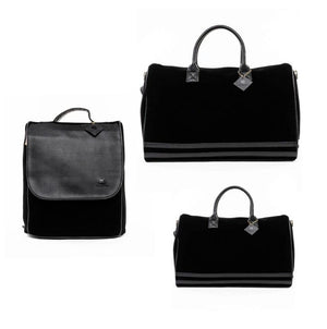 Tote & Carry Bags Black Velour XL Duffle Bag