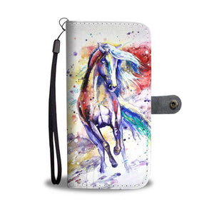 Awesome Horse Art Wallet Case
