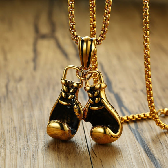 Heavyweight Champion Boxing Glove Pendant Necklace for Men