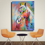 HColorful Horse Picture Canvas Print (No Frame)
