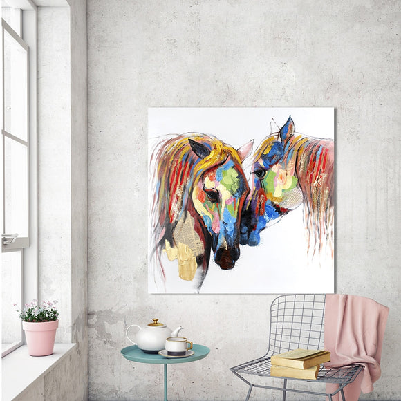 Wall Art Picture Love Horse Canvas Painting