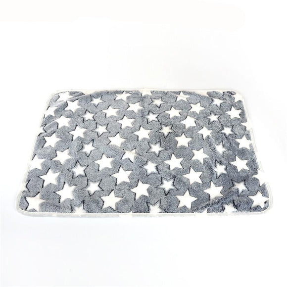 Dog Bed Soft Flannel Fleece Star Print
