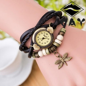 Hot Dragonfly Woman Bracelet, Hand Ring Watch