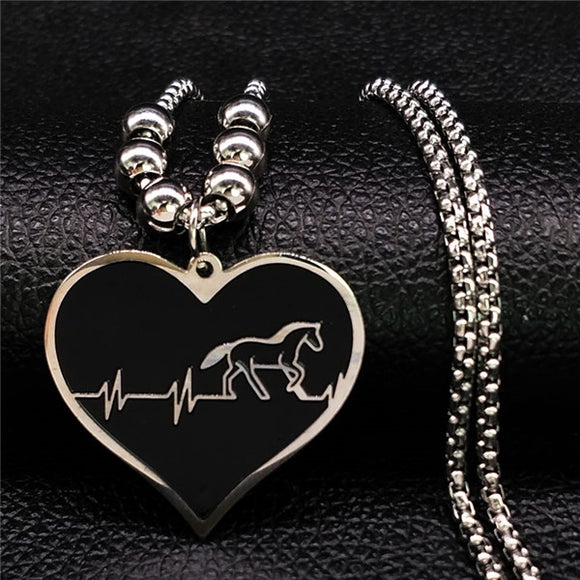 Horse Heartbeat Necklace