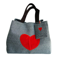 Heart Printed Canvas Large Capacity Women Canvas Beach Bags/Tote Bags