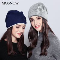 Classy Hats For Girls Wool Female Vogue New Flower Rhinestones Fashion