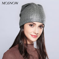 Women's Hats Shining Hot Sale Wool Knitted Autumn Winter Fashion