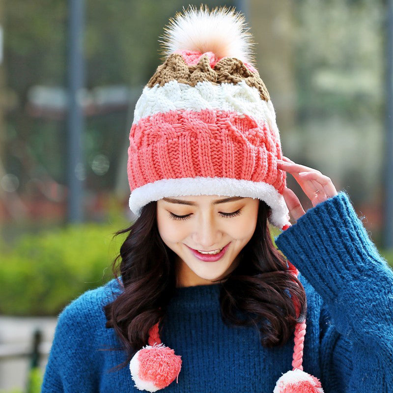Cute Winter Hats for Girls Crochet Knitted Hats for Women Skullies Beanie  Caps 5147385842c