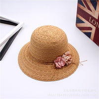 Bohemia mother and daughter flowers design Parent-child  silk cotton cap for summer