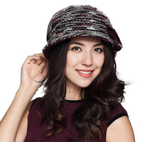 Winter Autumn Wool Knitted Wide Brim Felt Bucket Cap