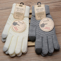 4 Colors Women Gloves Warm Imitation Cashmere Knitted Female Gloves