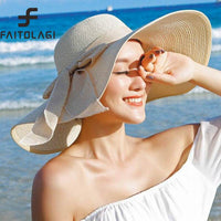2018 ladies summer/beach straw hats with wide floppy brim