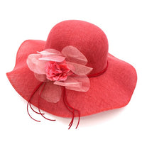 Bow-knot Straw Women's Summer Beach Fashion Sun Hat Floppy Wide Brim Fold-able Panama Chapeau