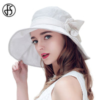 Summer Women's Large Wide Brim Floppy Floral Beach UV Breathable Sun Hats