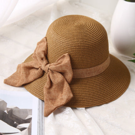 1851d36969c Summer Wide Brim Floppy Beach Hats for women Large Big Bow Panama Bucket  Hats Solid Straw Sun Hats