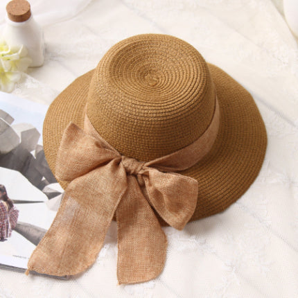 Summer Wide Brim Floppy Beach Hats for women Large Big Bow Panama Bucket  Hats Solid Straw Sun Hats 7bcc1947e4c