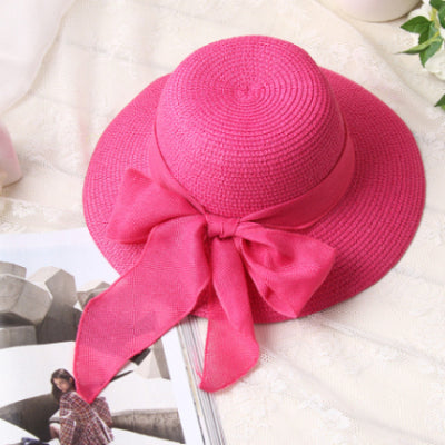 Summer Wide Brim Floppy Beach Hats for women Large Big Bow Panama Bucket  Hats Solid Straw Sun Hats 4562850c51ee