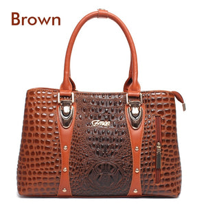 Luxury Women's Designer 2018 Fashion Crocodile patern PU Leather Tote Bags/ Handbag