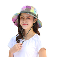 2018 Summer Sun Hat For Women Large Brim Floppy Summer Cotton Bucket Hats