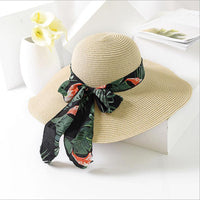 2018 New Summer Sun Hat Bow Ribbon Panama Beach Hats for Women Chapeu Feminino Sombrero Floppy Straw Hat