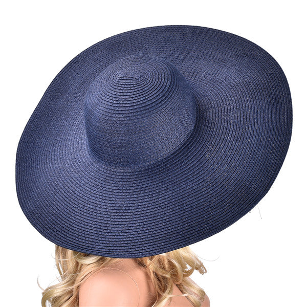 Huge Brim Sun Hats 7.1   18cm Paper Straw Summer Floppy Beach Hats for Womens  Ladies UV Protect 98f07ccb0cc6