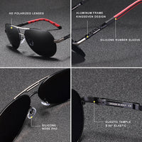 KINGSEVEN Men/Women Vintage Aluminum HD Polarized Classic Brand Sunglasses