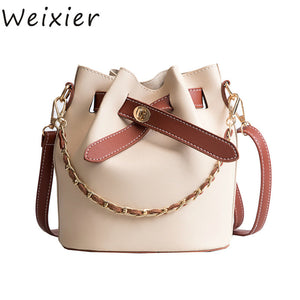 Women's small chains bucket party shopping casual cute summer style high quality totes ladies shoulder crossbody bags