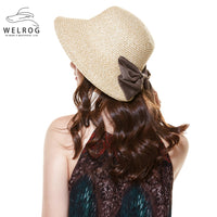 2018 Ponytail Summer Fall Women Foldable Ponytail Big Bow Wide Brim Sun Hat