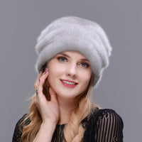 Mink Whole Skin High Quality Luxurious Mink Fur Hat