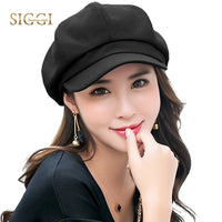 Womens Fashion Spring Newsboy Solid Cotton Viscose Adjustable Casual Berets Hats