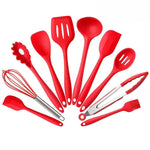 10 PCS Silicone Kitchen Utensils Set Heat Resistant and Non-stick Silicone Cooking Set