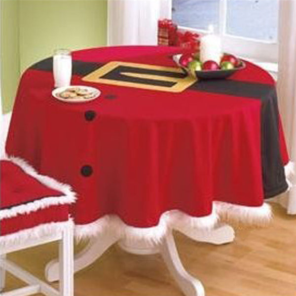 Christmas StyleTable Cloth Round Hotel Tablecloth Christmas Wedding Party Banquet Table Cover Home Textiles