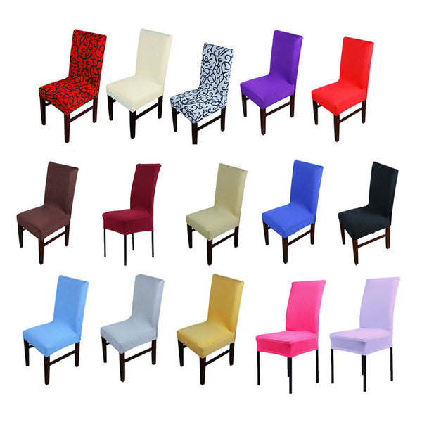 1pc Home Chair Cover wedding decoration Various Colors Polyester Spandex Dining Chair Covers For Wedding Party J2Y