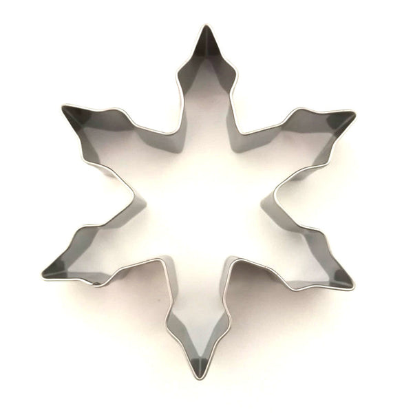 AMW Christmas Snowflake Cookie Cutter 3D Stainless Steel Biscuit Mould Baking Tools