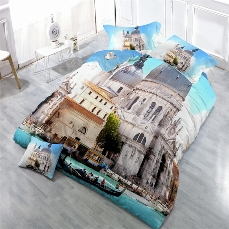 3d White House printed twin set sheets