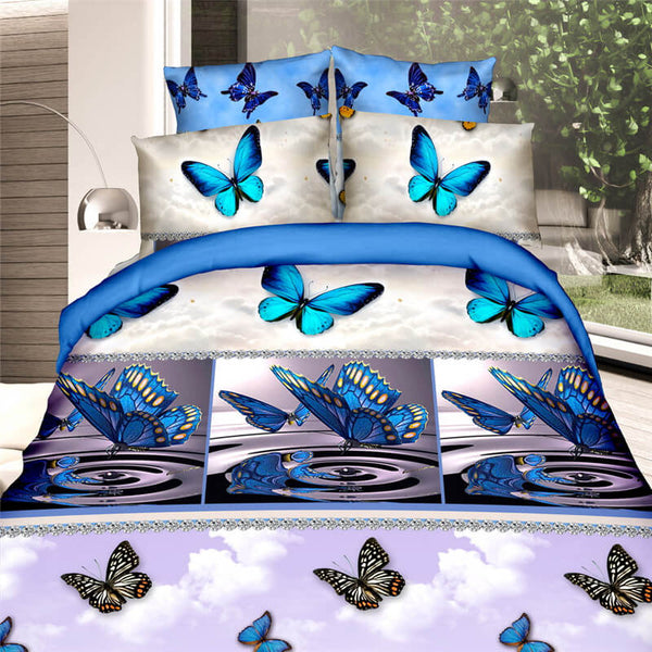 girls butterfly bedding