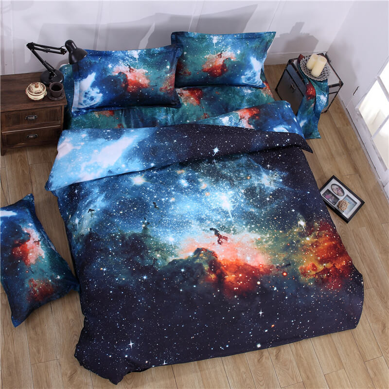 3d galaxy bed sheets