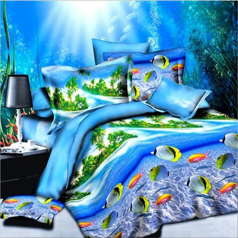 3d ocean fish bedding