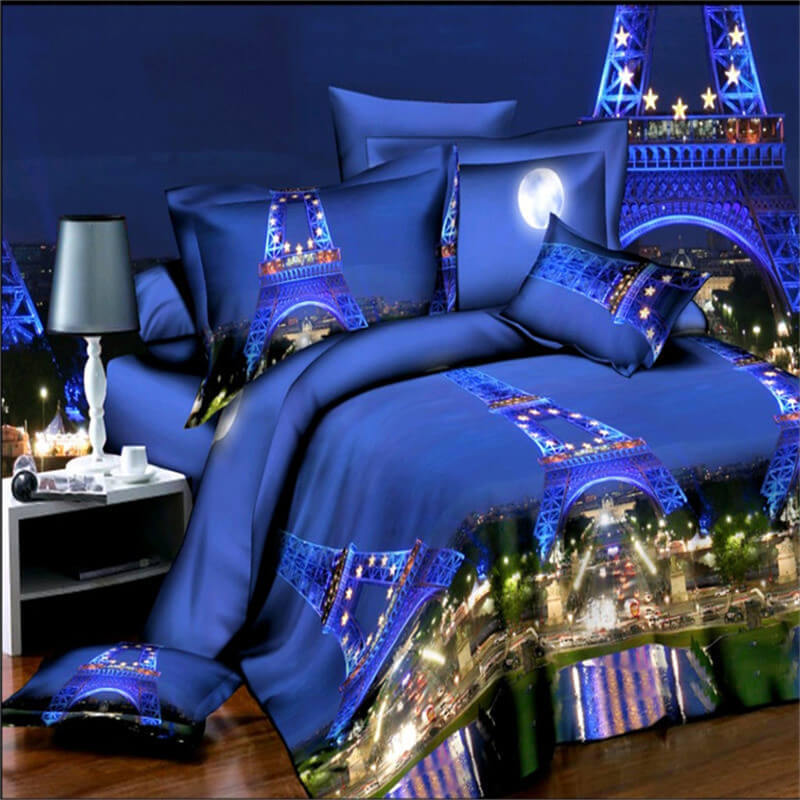 3d paris bedding