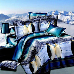 3d penguin bedding