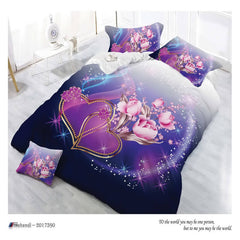 printed twin sheets 3d purple bedding