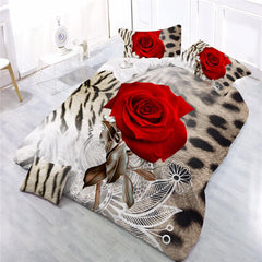 3d rose flower bedding set
