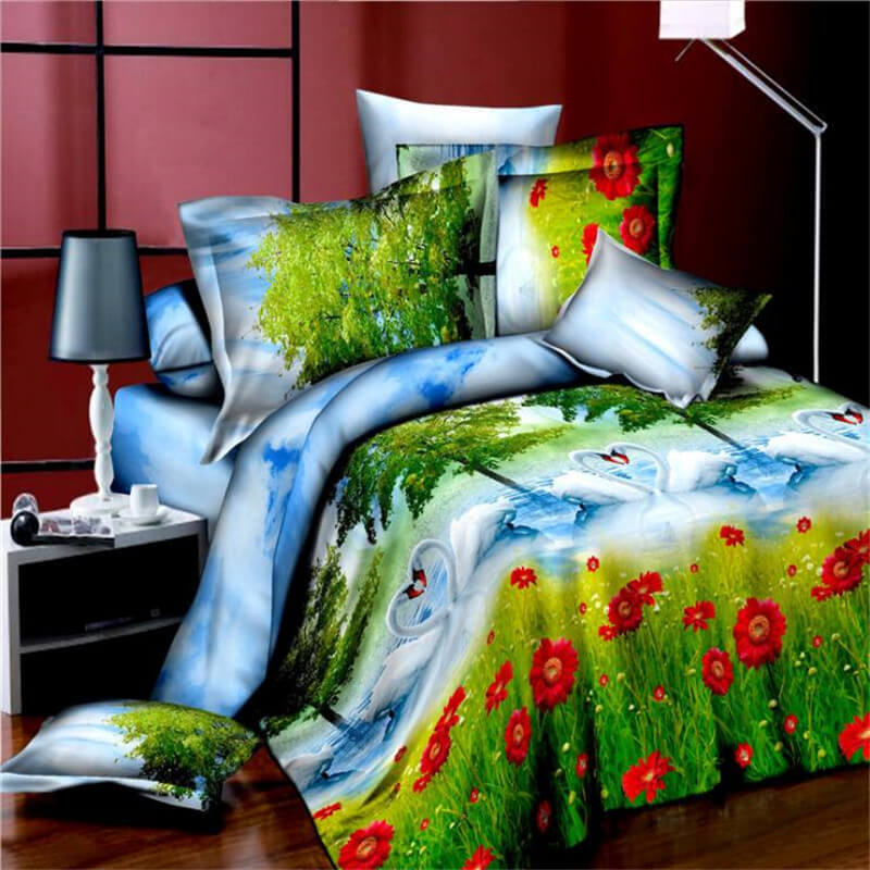 3d swan lake bedding