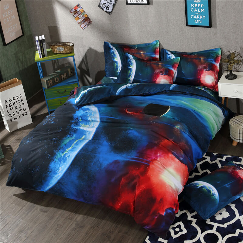 high quality galaxy bed sheets