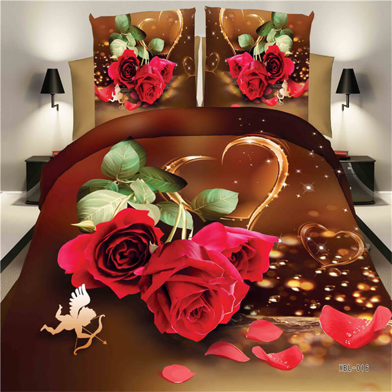 red rose bed sheet
