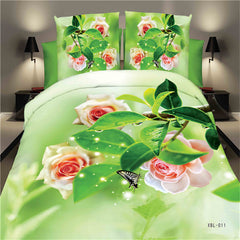 red rose comforter set
