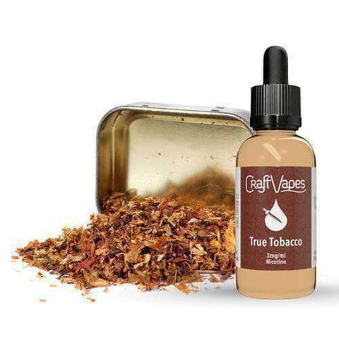 Craft Vapes E-Liquid - True Tobacco
